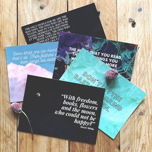 LITERARY QUOTE PRINTS & POSTCARDS
