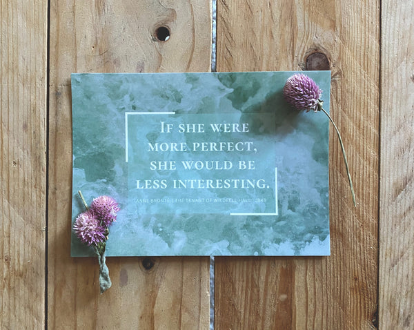 Atwood, Kaur, Shelley, Bronte, Woolf, Plath | Inspiring Feminist Literary Quote Postcards | Set of 6