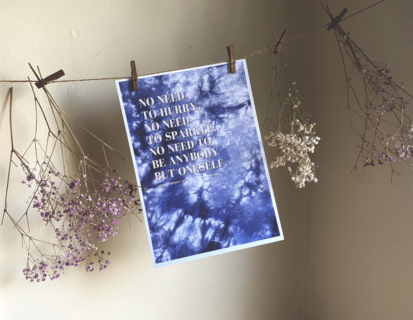 Virginia Woolf Feminist Literary Quote Art Print | A4