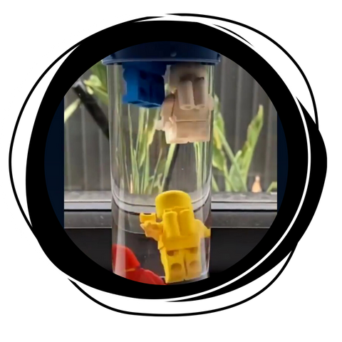 Lego in the calm down bottle