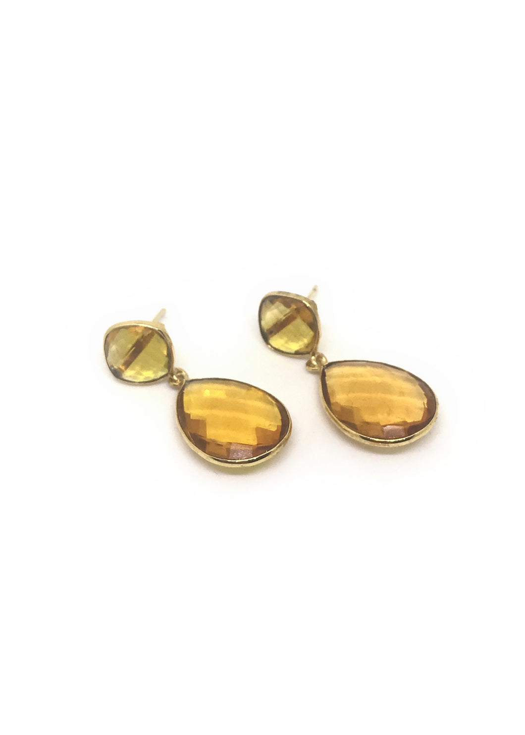 Citrine Duo mid Earrings