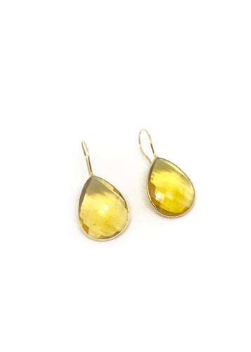 Yellow Topaz Mono Earrings