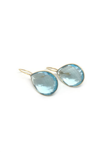 Blue Topaz Mono Earrings