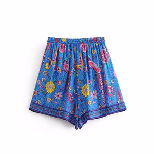 Jastie Flower Shorts-gypsybaby-boho-clothing-fashion