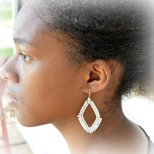 Nakamol Brandi Open Diamond Drop Hoop Earrings - Lorraine's for Women