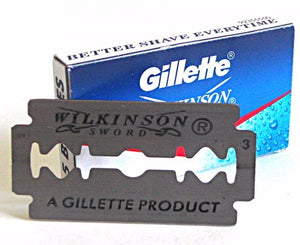 Gillette Wilkinson Sword Stainless Steel Double Edge Razor Blades - 10 Blades