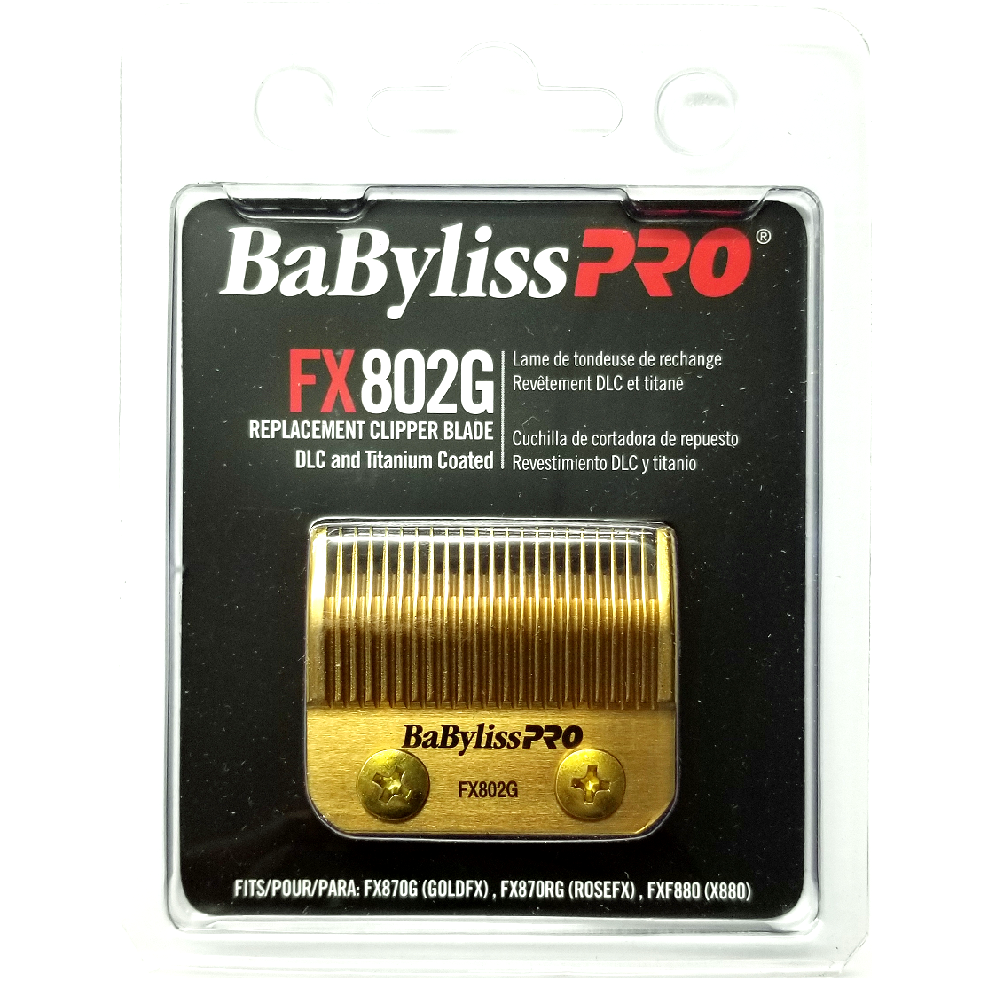 Babyliss Pro Dlc And Titanium Coated Replacement Clipper FX802G