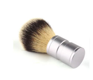 Men's Quality Shaving Brush - Silvertip Style Stainless Steel Metal Handle Synthetic Badger Hair