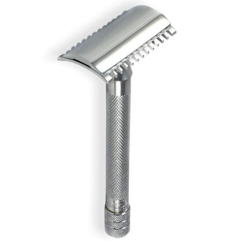MERKUR 25C LONG HANDLE SAFETY RAZOR, OPEN TOOTH