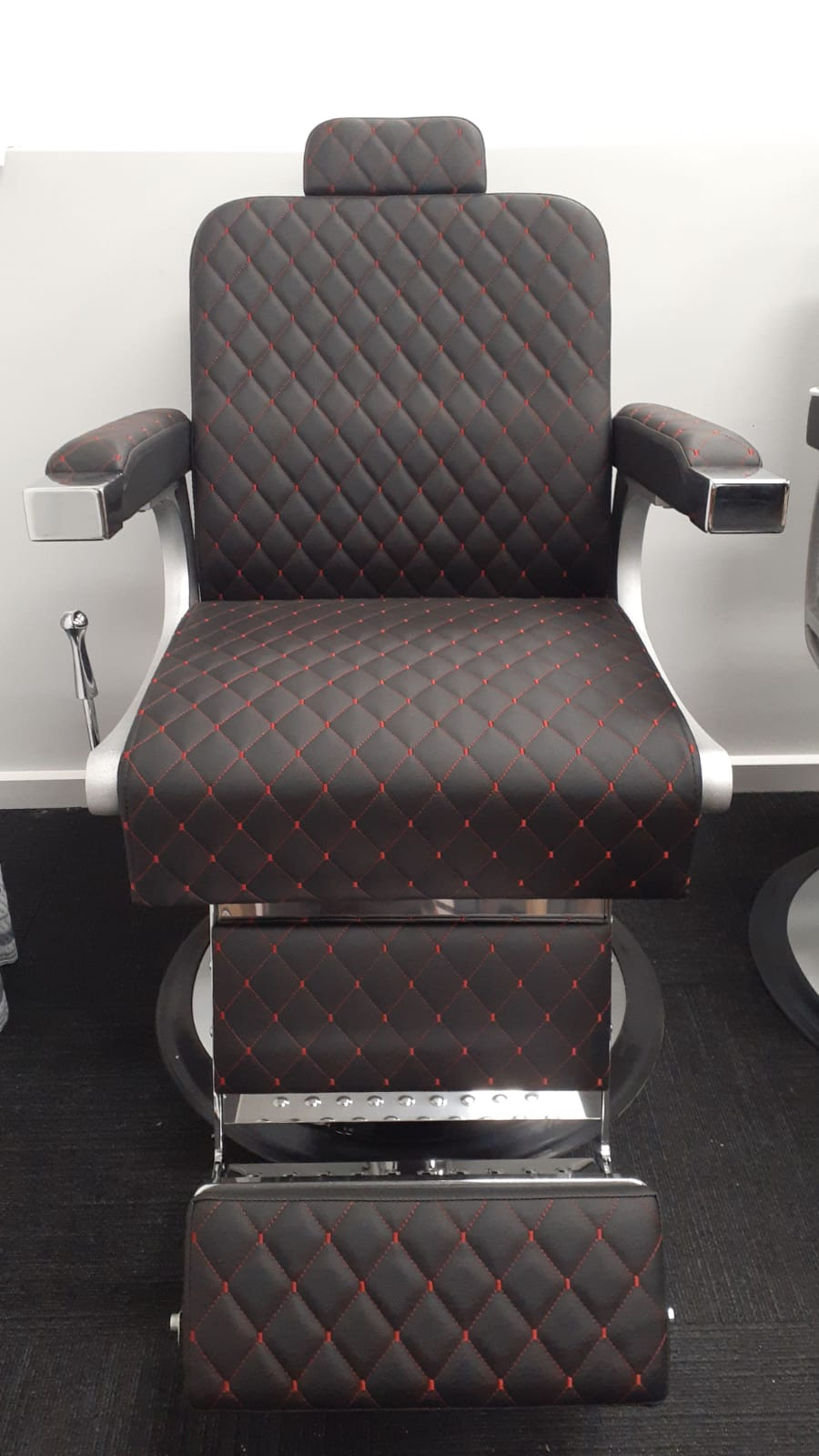 Barber Chair - BEY The Raider (Red Crossed Stitches)