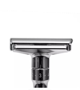 MERKUR - 701 POLISHED CHROME ADJUSTABLE DOUBLE EDGE SAFETY RAZOR
