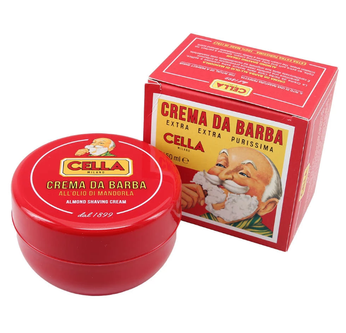 Cella Shaving Soap with Sweet Almond Oil - 150ml. Tub