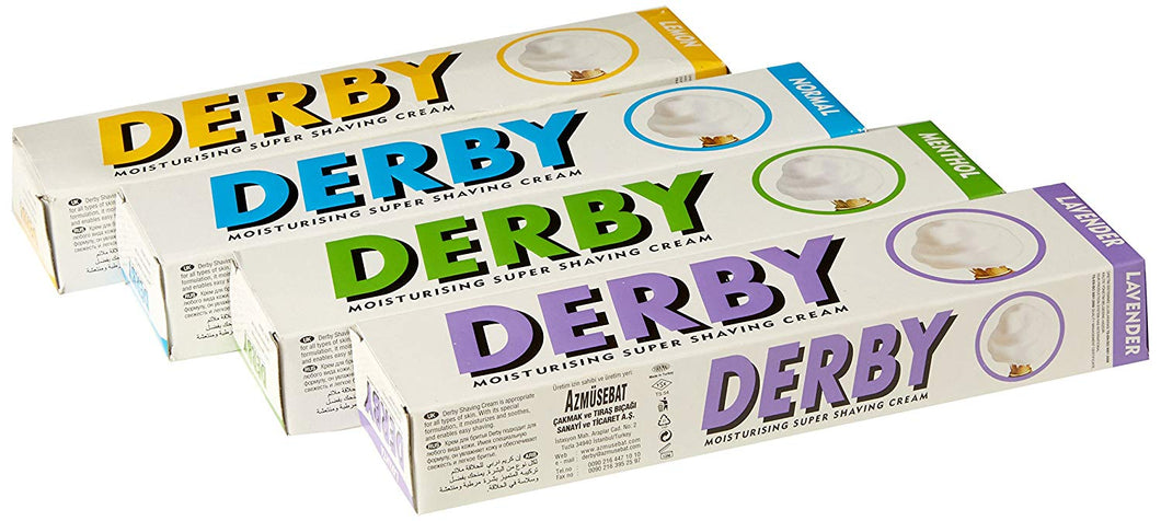 Derby Shaving Cream  (Lemon, Lavender, Mint, Normal)