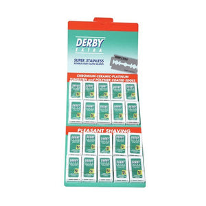 Derby Double Edge Razor Blades (100 ct) Hanging Card