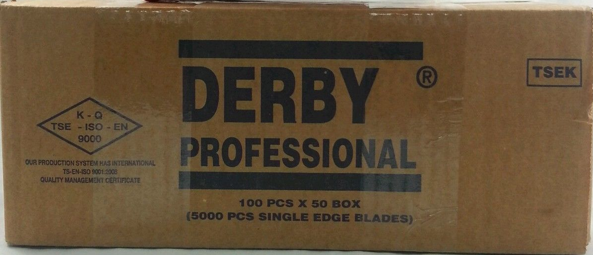 Derby Professional Single Edge Razor Blades (50 x 100 Blades)