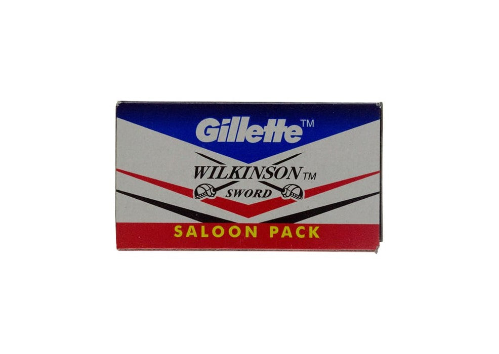 Gillette Wilkinson Sword Double Edge Razor Blades Saloon Pack - 10 Blades