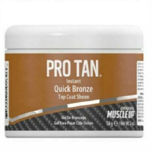PRO TAN Quick Bronze Dark Brown POSING GEL 58g/2oz Muscle Up Competition Prep