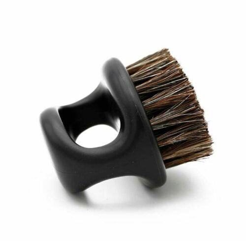 BARBER CLIPPER CLEANING & BEARD RING BRUSH - BLACK COLOR