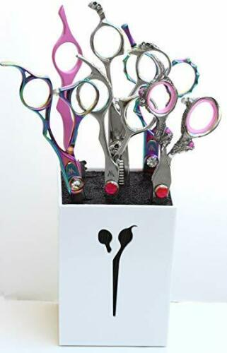 Pro Acylic Salon Scissors Holder Box Combs Organizer Rack for Hair Stylist