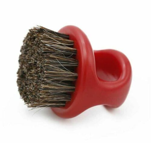BARBER CLIPPER CLEANING & BEARD RING BRUSH - RED COLOR