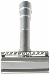 Merkur 46C Travel Adjustable Chrome Double Edge Safety Razor + Leather Case