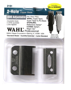 Wahl 2 Hole Adjustable Clipper Replacement Blade Set #2191