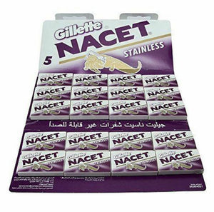 Gillette NACET Double Edge Razor Blade High Quality Pack of 100