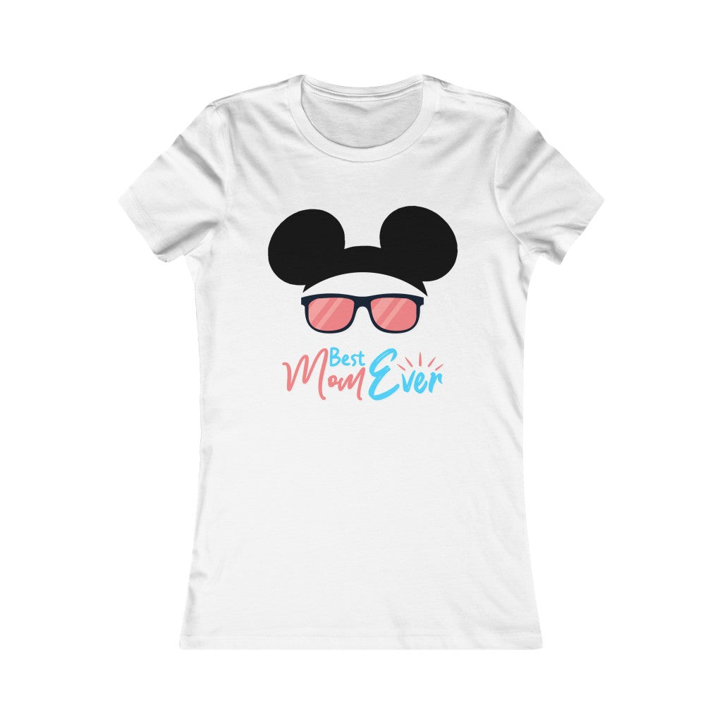 Best Mom ever with Sunglasses Mickey Ear Women