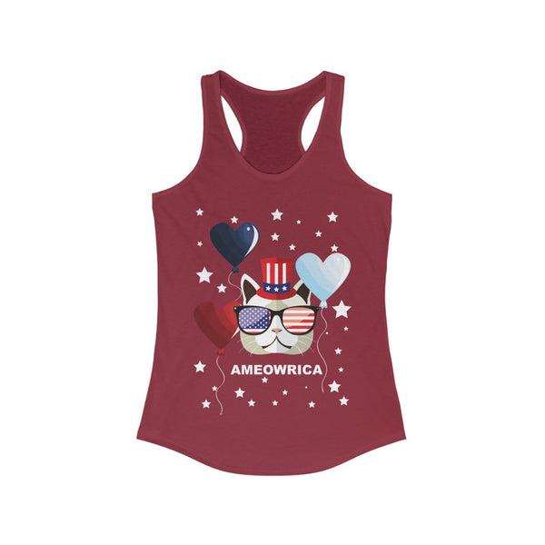 Ameowria July 4th Racerback Tank Top