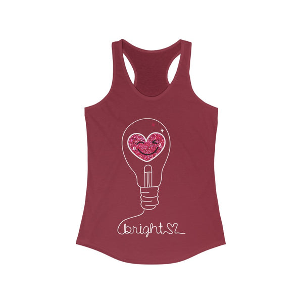 Bright with hand-drawing Light bulb Yoga Tank Top