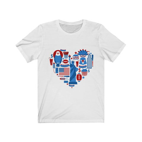 American Heart July 4th Short Sleeve Tshirt