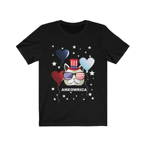 Ameowrica July 4th Short Sleeve Tshirt