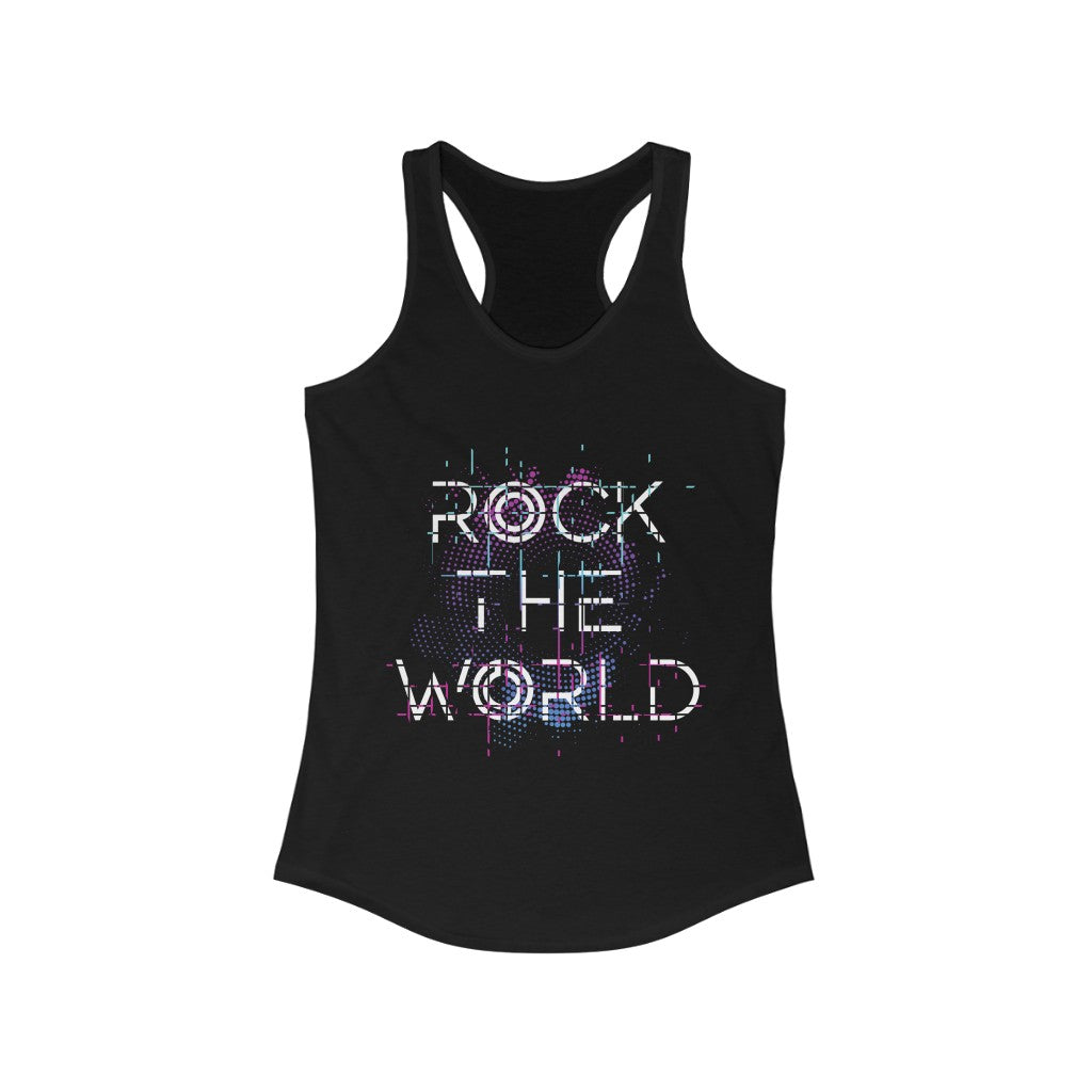 Rock The World Racerback Tank Top