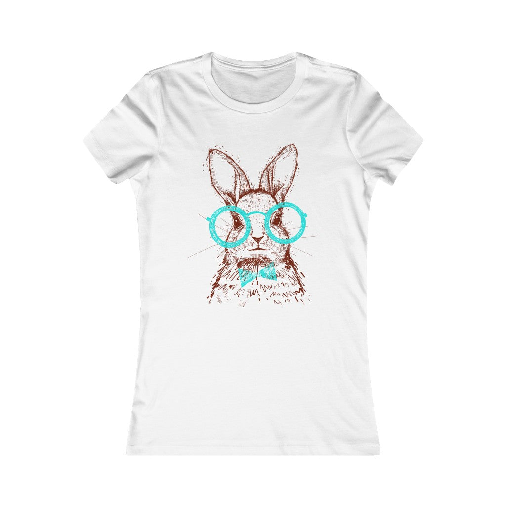 Mr Bunny with Glasses Women Tee