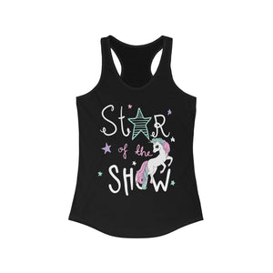 Star of the Show Unicorn Racerback Tank Top