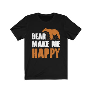 Bear Make Me Happy Black Tshirt