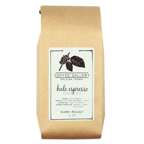 house blend espresso roasted in Hawaii