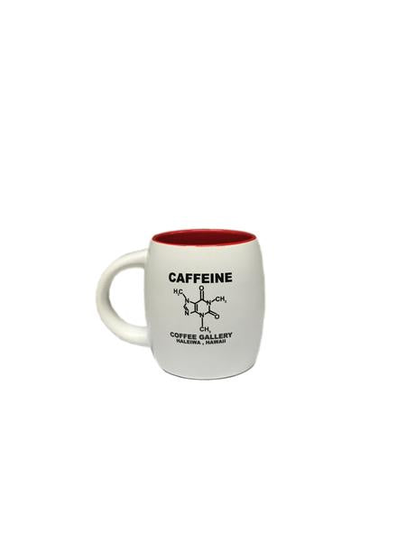 Coffee Mug with Caffein Molecule