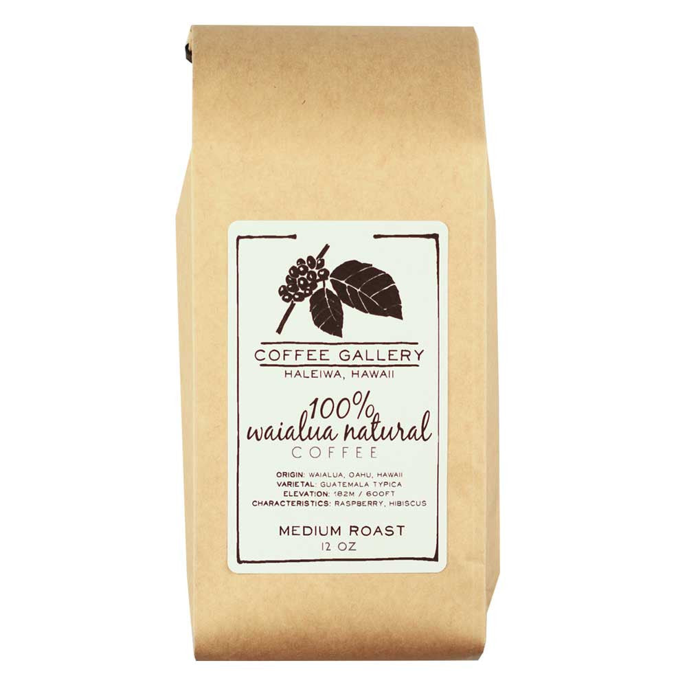 100% Waialua Natural Coffee Roasted in Hawaii