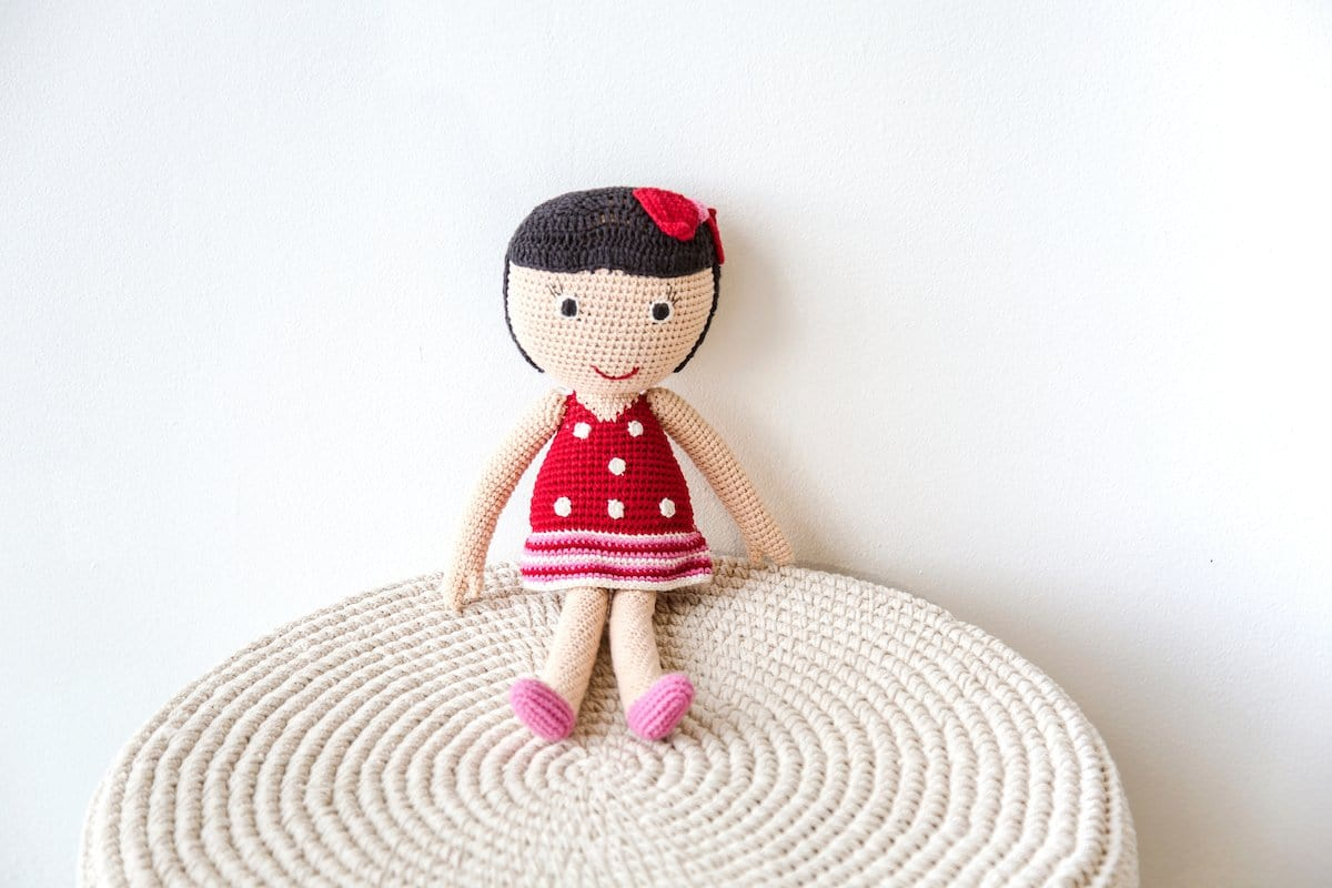 red COTTON HAND MADE CROCHET LAURA