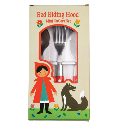 RED RIDING HOOD CHILDREN'S CUTLERY SET