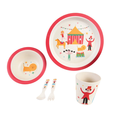BIG TOP CIRCUS BAMBOO TABLEWARE SET