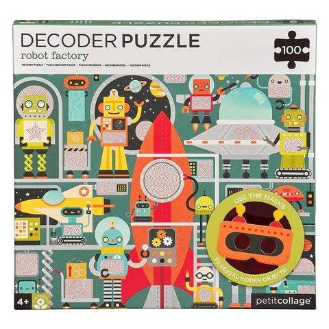 100-Piece Decoder Puzzle: Robot Factory
