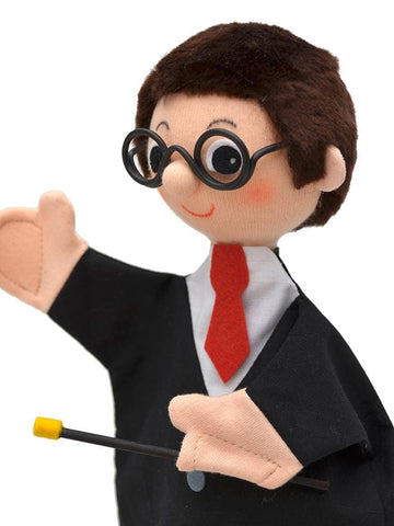 Hand Puppet Harry Style Magician 27cm