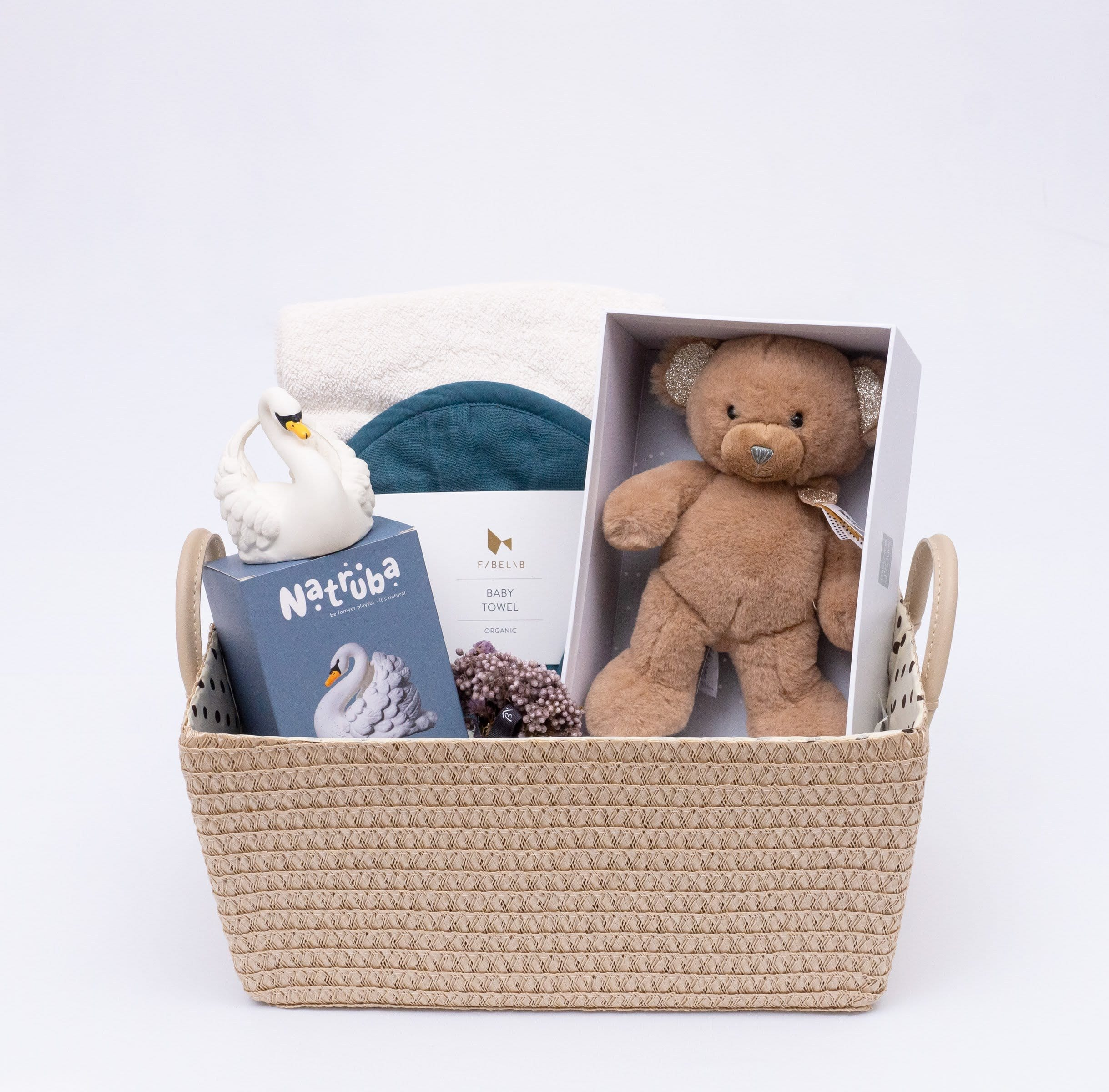 Petit Teddy Bear Baby blue hamper