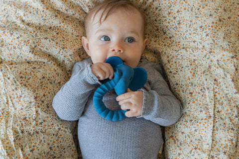 TEETHER ELEPHANT BLUE