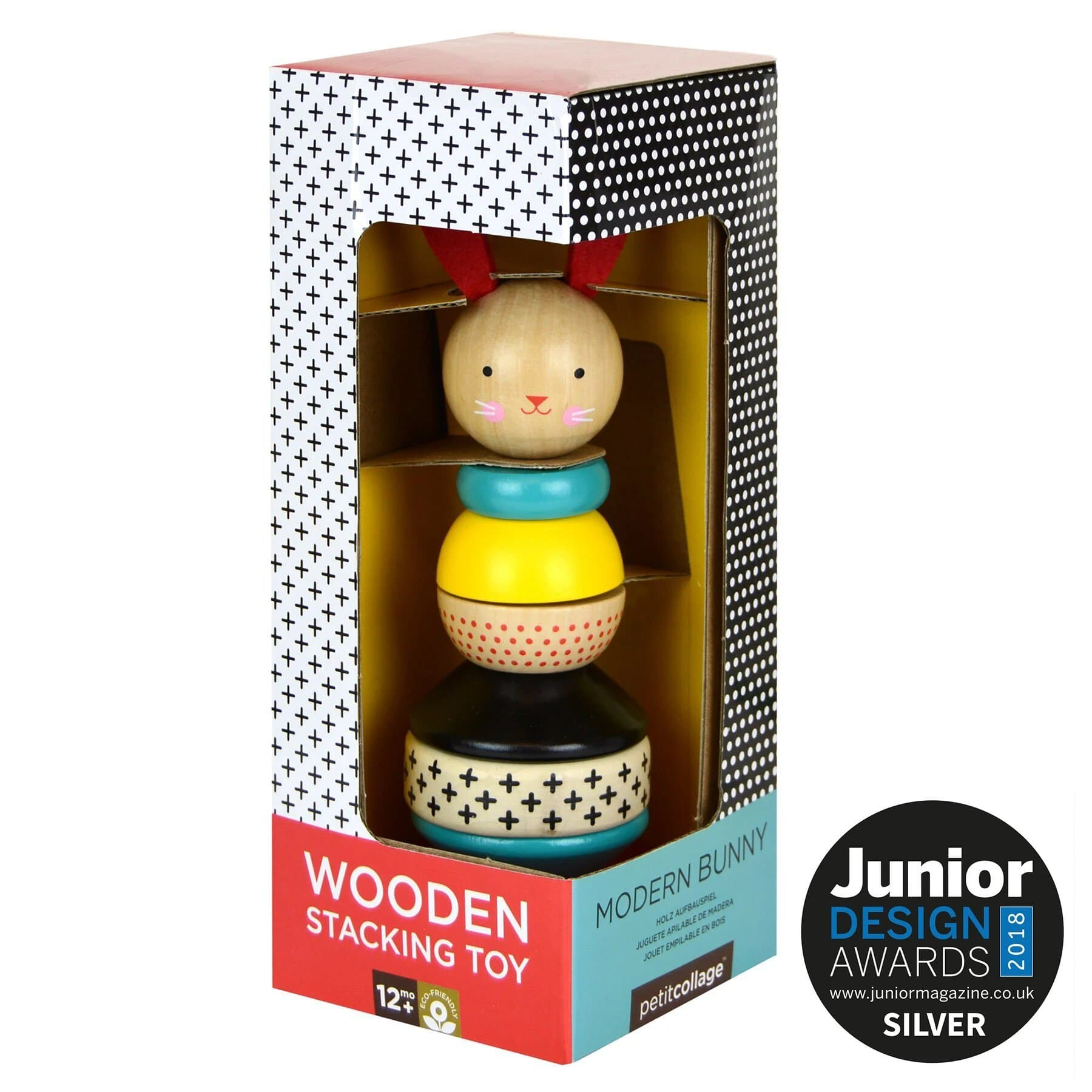 Wood Stacking Toy: Modern Bunny