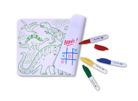 Mini Tablemat set Dinosaur