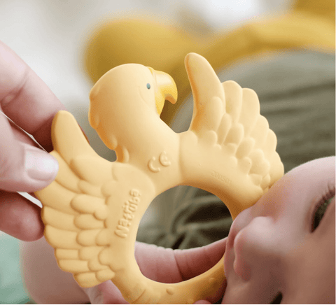 TEETHER PARROT YELLOW