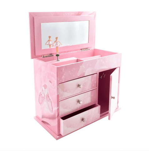 CHEST OF DRAWERS WITH MUSIC BALLERINA - PINK
